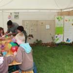 Atelier sur notre stand fête des jardins La Roche-Jagu